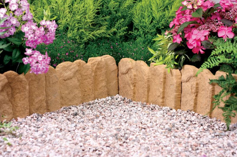 Old Stone York Gold Antique Lawn Edging Single Pack