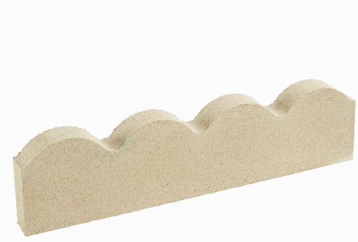 Grey Scalloped Lawn Edging - Single Pack (60cm)