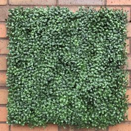 50cm Boxwood Artificial Hedge Panel - Fire Retardant