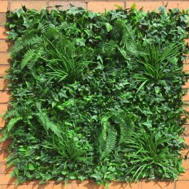 1m Artificial Instant Green Wall Hedge Panel - Mixed Plants