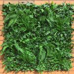 Artificial Instant Green Wall Hedge Panel Mixed Plants - 1 x 1 Metre