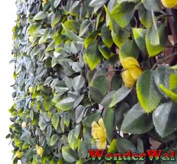 1m x 2m Leaf and Yellow Flower Trellis Artificial Screening by Wonder Wal™