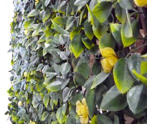1m x 2m Leaf and Yellow Flower Trellis Artificial Screening