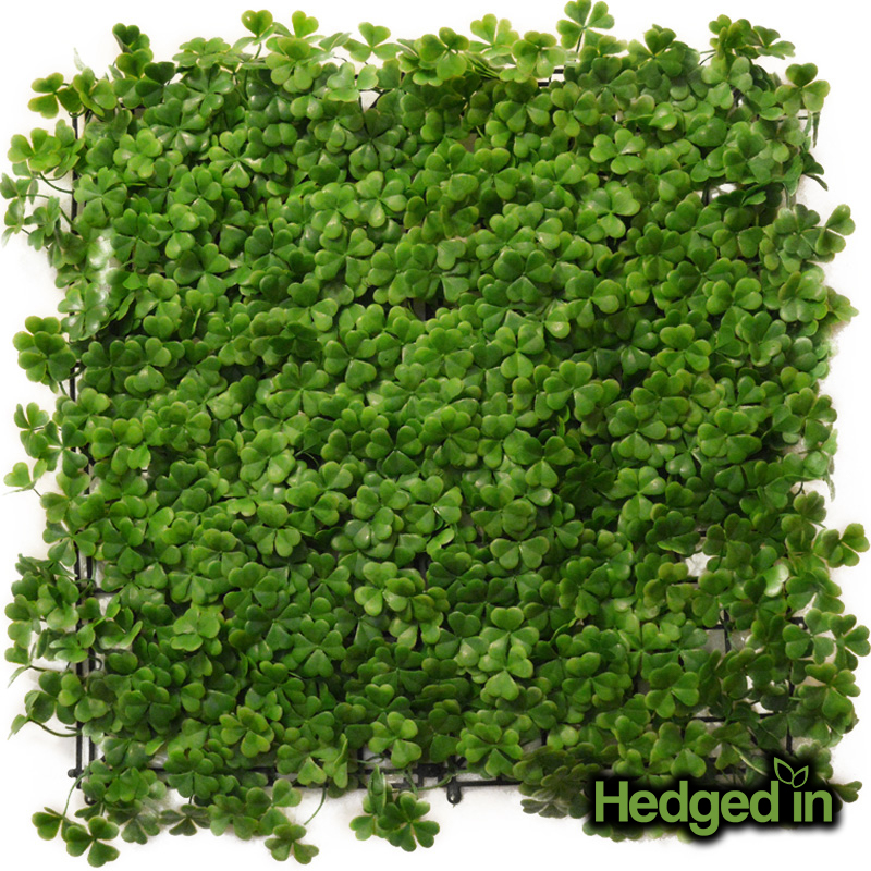 50cm x 50cm Clover Leaf Artificial Hedge Panel by Hedged In™