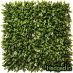 50cm x 50cm Floral Artificial Hedge Panel