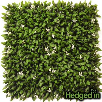50cm Floral Artificial Hedge Panel