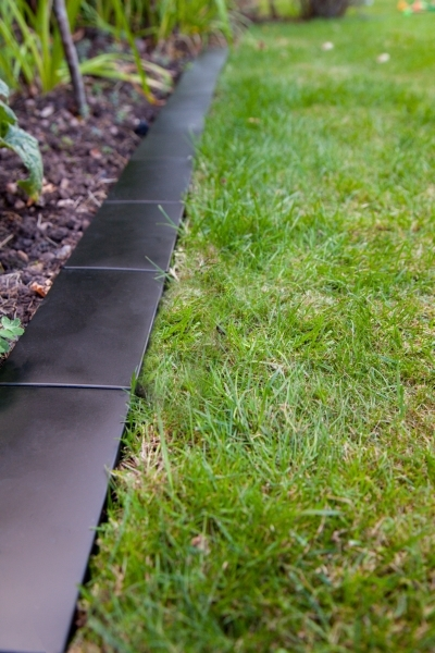 14.4m Border Edging Brick Style (10x 24cm) in Black