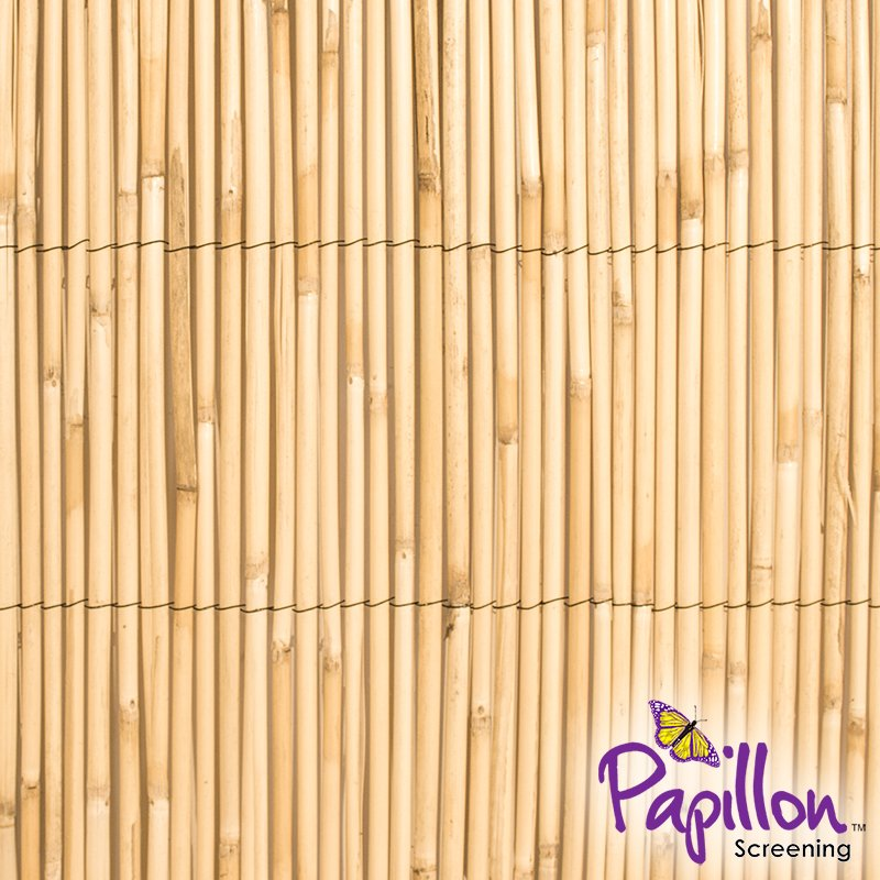 4m x 1.5m Thick Natural Bamboo Style Reed Screening by Papillon™