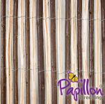 Split Willow Natural Fencing Screening 4.0m x 2.0m (13ft 1in x 6ft 7in) - By Papillon™
