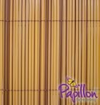 4m x 1m Artificial Hollow Cane Screening Mixed Colours by Papillon™
