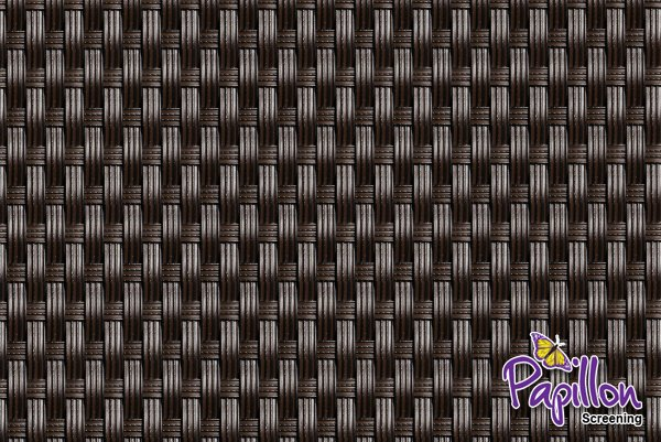 Dark Brown Rattan Weave Artificial Fencing Screening 1.0m x 1.0m (3ft 3in x 3ft 3in) - By Papillon™