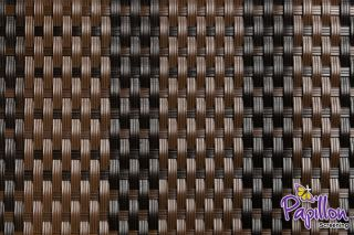 Dark Brown and Black Rattan Weave Artificial Fencing Screening 1.0m x 2.0m (3ft 3in x 6ft 7in )- By Papillon™