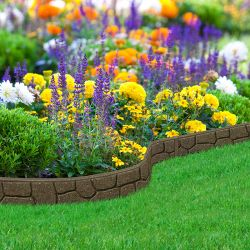 EZ Border Stone Garden Edging (1x 1.2m) in Earth