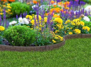 EZ Border Stone Garden Edging (2x 1.2m packs) in Earth