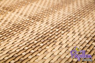 Two Tone Sand Rattan Weave Artificial Fencing Screening 1.0m x 2.0m (3ft 3in x 6ft 7in ) - By Papillon™