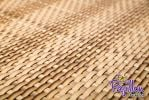 Two Tone Sand Rattan Weave Artificial Fencing Screening 1.0m x 1.0m (3ft 3in x 3ft 3in) - By Papillon™