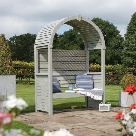 H2m (6ft 7in) Wooden Modena 2 Seater Arbour Bench FSC® by Rowlinson®