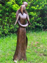 85cm Infinite Love Bronze Garden statue