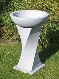 70cm Bird Bath Granite Garden Statue