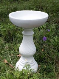 70cm Georgian Bird Bath Marble Garden Statue