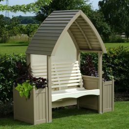 Cottage Arbour in Nutmeg and Cream