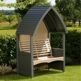 Cottage Arbour in Charcoal and Nutmeg