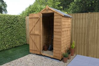 Overlap Dip Treated Apex Shed (No Window) | 4x3ft