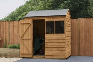 Overlap Dip Treated Reverse Apex Shed | 6x4ft