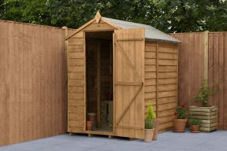 Overlap Dip Treated Apex Shed (No Window) | 6x4ft