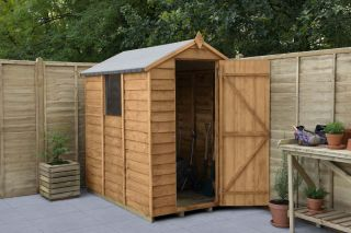 Overlap Dip Treated Apex Shed | 6x4ft