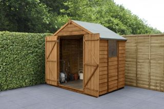 Overlap Dip Treated Apex Shed (Double Door) | 7x5ft