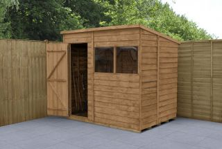 Overlap Dip Treated Pent Shed | 7x5ft