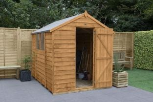 Overlap Dip Treated Apex Shed | 8x6ft