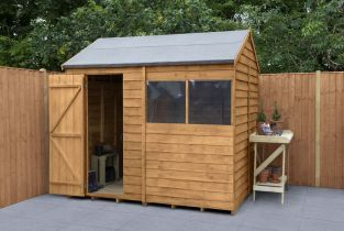 Overlap Dip Treated Reverse Apex Shed | 8x6ft
