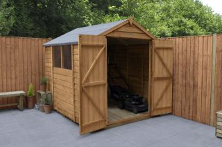 Overlap Dip Treated Apex Shed Double Door | 8x6ft