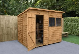 Overlap Dip Treated Pent Shed | 8x6ft