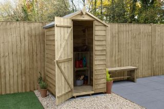 Overlap Pressure Treated Apex Shed (No Window) | 4x3ft