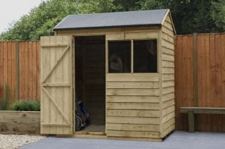 Overlap Pressure Treated Reverse Apex Shed | 6x4ft
