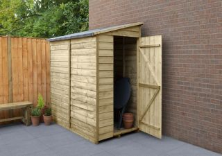 Overlap Pressure Treated Pent Shed (No Window) | 6x3ft