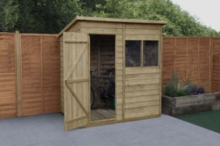 Overlap Pressure Treated Pent Shed | 6x4ft