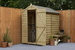 Overlap Pressure Treated Apex Shed (No Window) -|6x4ft
