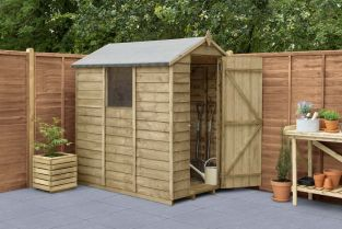 Overlap Pressure Treated Apex Shed | 6x4ft