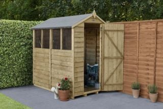 Overlap Pressure Treated Apex Shed (4 Window) | 6x4ft