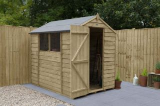 Overlap Pressure Treated Apex Shed | 7x5ft