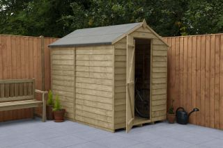 Overlap Pressure Treated Apex Shed (No Window) | 7x5ft