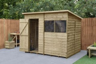 Overlap Pressure Treated Pent Shed | 8x6ft