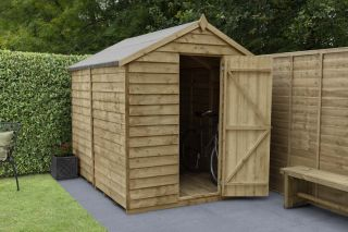 Overlap Pressure Treated Apex Shed (No Window) | 8x6ft