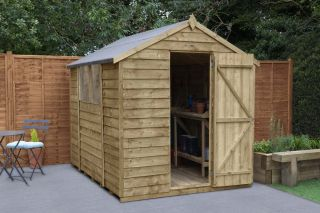 Overlap Pressure Treated Apex Shed | 8x6ft