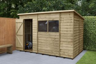 Overlap Pressure Treated Pent Shed | 10x6ft
