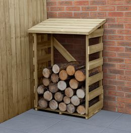 4ft Wooden Garden Log Store